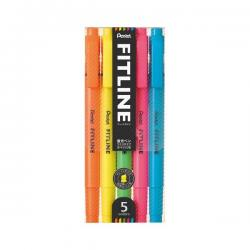 Pentel Fitline Highlighter 5 C...