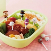 Torune Ghost Food Picks 8 Pieces for Bento Box Lunch Box